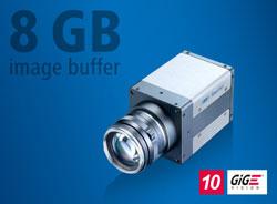 Traitement de l'image haute vitesse avec mémoire d'images interne de 8 GB