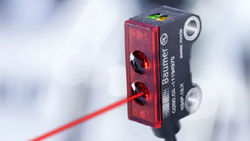 Détecteur laser précis pour la détection des plus petits objets jusqu'à 0,05 mm
