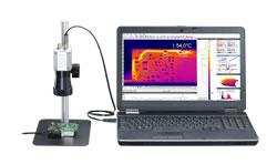 Caméra thermique avec optique microscope
